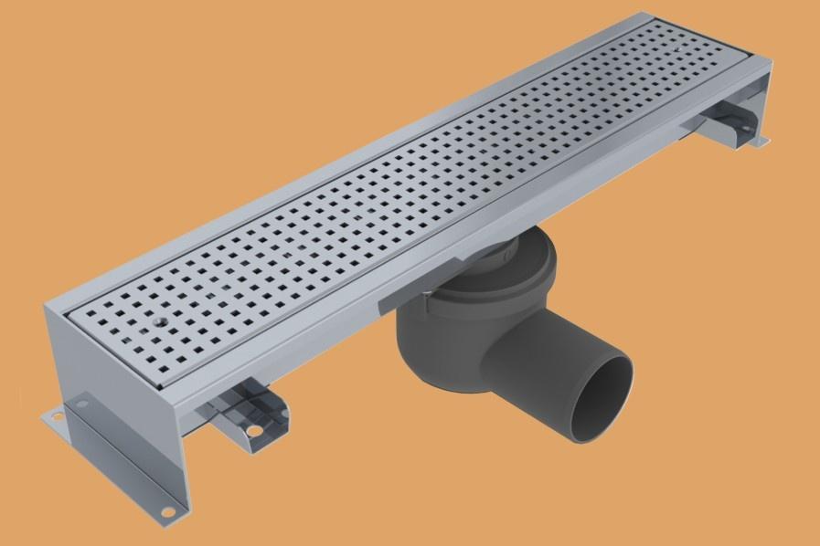 edelstahlrinne mit rostbreite 100 mm zu fliesen mit steichdichtung. Black Bedroom Furniture Sets. Home Design Ideas