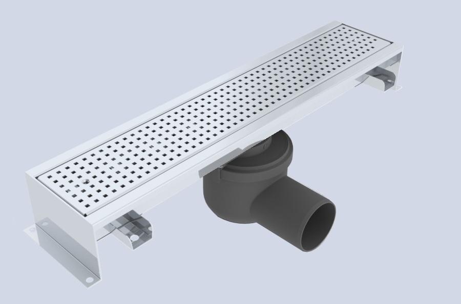 edelstahlrinne mit rostbreite 100 mm f r betonboden. Black Bedroom Furniture Sets. Home Design Ideas